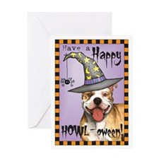 Halloween Pit Bull Greeting Card