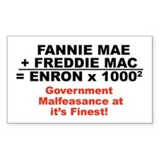Fannie Mae Freddie Mac Bumper Sticker)