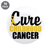 "CureChildHoodCancer 3.5"" Button (10 pack)"