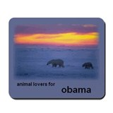 Animal Lovers for Obama Mousepad
