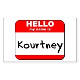 Hello my name is Kourtney Rectangle Bumper Stickers