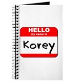 Hello my name is Korey Journal