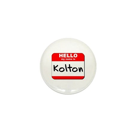 Hello my name is Kolton Mini Button (10 pack)