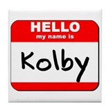 Hello my name is Kolby Tile Coaster