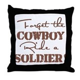 Forget The Cowboy Throw Pillow