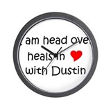Funny I love dustin Wall Clock