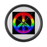 RAINBOW PRIDE TRIANGLE Large Wall Clock