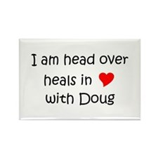 Cute Doug Rectangle Magnet (10 pack)