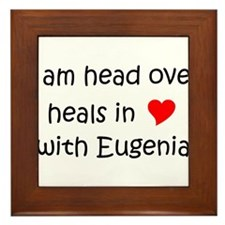 Cute I love eugenia Framed Tile