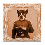Boston Terrier LEFTY Tile Coaster
