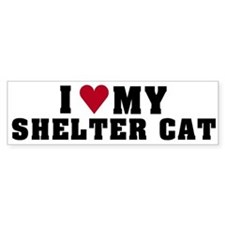 Love My Shelter Cat Bumper Bumper Sticker