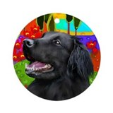 FLAT COATED RETRIEVER LAKE Keepsake (Round)