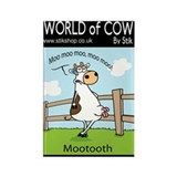 Moo Tooth. Rectangle Magnet (10 pack)