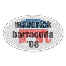 Maverick Barracuda Vintage Oval Decal