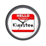 Hello my name is Kiersten Wall Clock