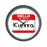 Hello my name is Kierra Wall Clock