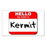 Hello my name is Kermit Rectangle Decal