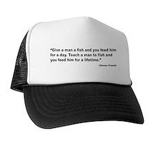 Teach Man to Fish Proverb Trucker Hat