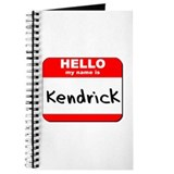 Hello my name is Kendrick Journal
