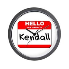 Hello my name is Kendall Wall Clock