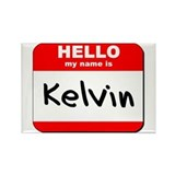 Hello my name is Kelvin Rectangle Magnet