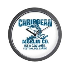 Caribbean Marlin Co. Wall Clock