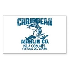 Caribbean Marlin Co. Rectangle Decal
