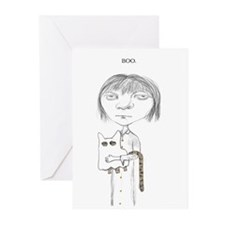 Gothic Girl Holloween Greeting Cards (Pk of 20)