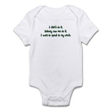 Want to Speak to My Uncle Infant Bodysuit