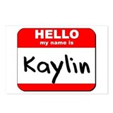 Hello my name is Kaylin Postcards (Package of 8)
