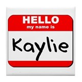 Hello my name is Kaylie Tile Coaster