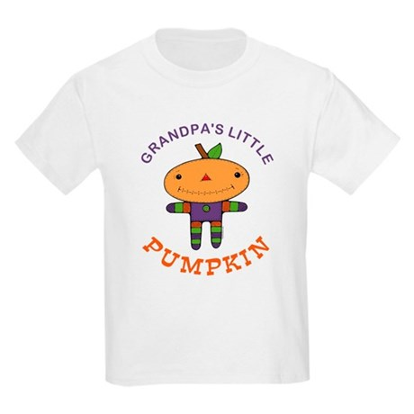 Grandpa's Little Pumpkin Kids Light T-Shirt