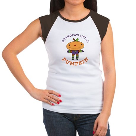 Grandpa's Little Pumpkin Women's Cap Sleeve T-Shir