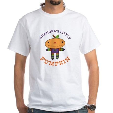 Grandpa's Little Pumpkin White T-Shirt