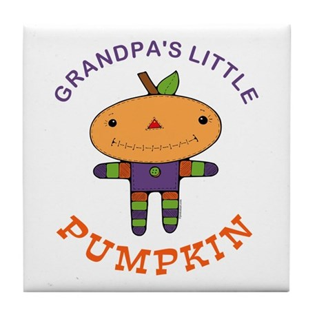 Grandpa's Little Pumpkin Tile Coaster