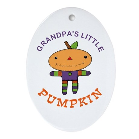 Grandpa's Little Pumpkin Oval Ornament