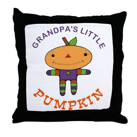 Grandpa's Little Pumpkin Throw Pillow