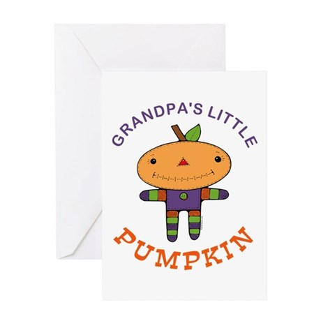 Grandpa's Little Pumpkin Greeting Card