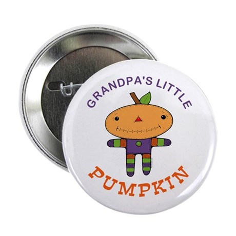 "Grandpa's Little Pumpkin 2.25"" Button"