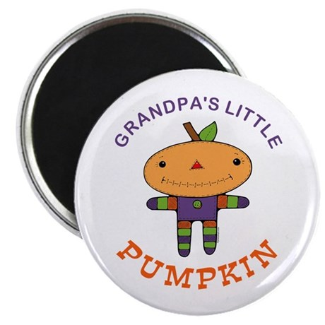 Grandpa's Little Pumpkin Magnet