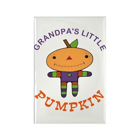 Grandpa's Little Pumpkin Rectangle Magnet