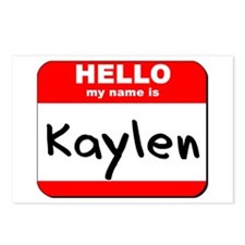 Hello my name is Kaylen Postcards (Package of 8)
