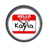 Hello my name is Kayla Wall Clock