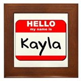 Hello my name is Kayla Framed Tile