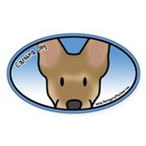 Anime Carolina Dog Oval Decal