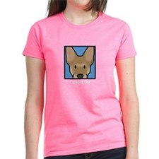 Anime Carolina Dog Women's Black TShirt
