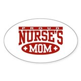 Proud Nurse's Mom Oval Stickers