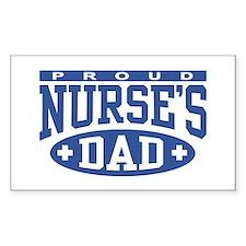 Proud Nurse's Dad Rectangle Bumper Stickers