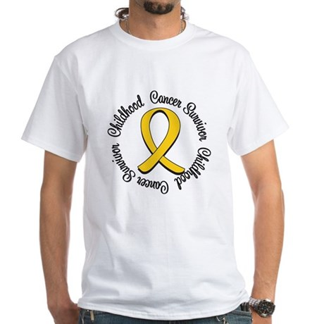 Childhood Cancer Hope White T-Shirt