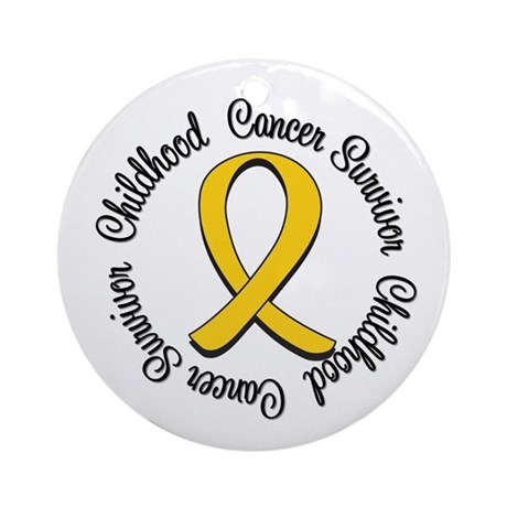 Childhood Cancer Hope Ornament (Round)